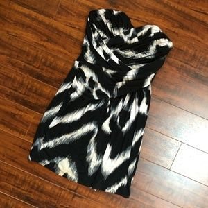 Ruched Tie Dye Mini Party Event Strapless …